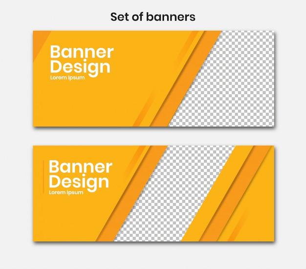 Banner horizontal com cor amarela