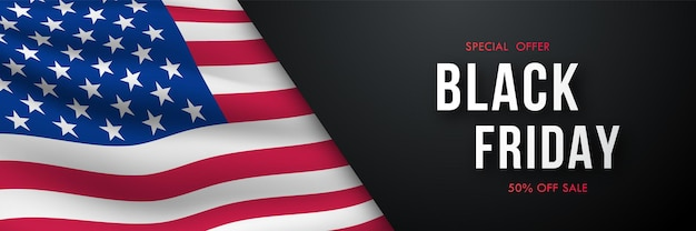 Banner horizontal da black friday