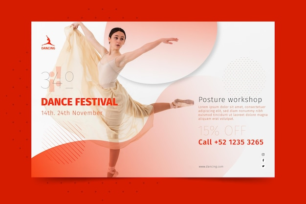 Banner horizontal dançando