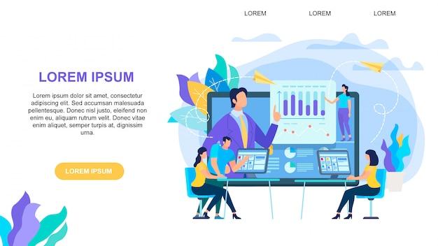 Banner horizontal de educação on-line com espaço de cópia