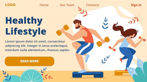 Banner horizontal de estilo de vida saudável