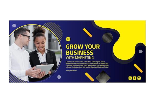 Banner horizontal de marketing empresarial