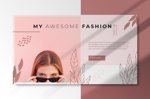 Banner horizontal de moda para blog