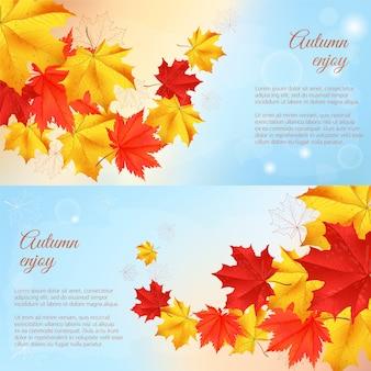 Banner horizontal de outono.
