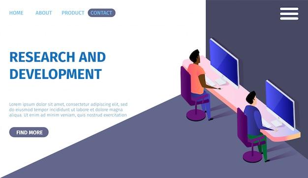 Banner horizontal de pesquisa e desenvolvimento