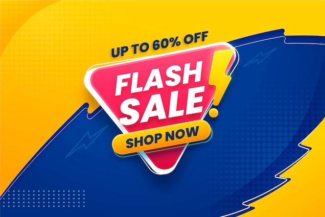 Banner horizontal de venda em flash