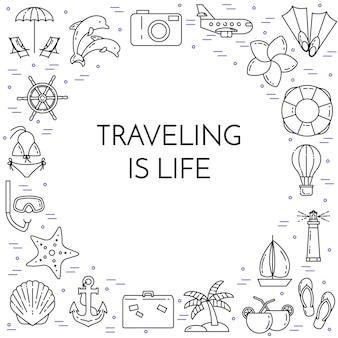 Banner horizontal de viagem