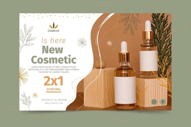 Banner horizontal para produtos cosméticos