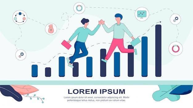 Banner illustration ajude o seu sucesso em negócios