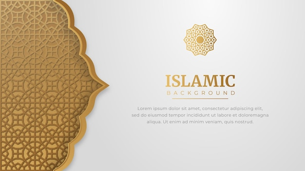 Banner islâmico árabe elegante
