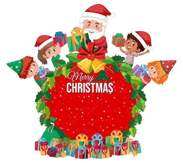 Banner isolado de feliz natal