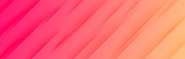 Banner largo vibrante com padrão de listras diagonais