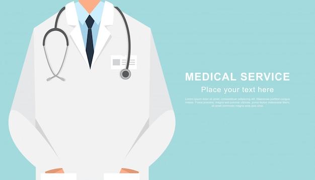 Banner médico fechar com espaço de cópia