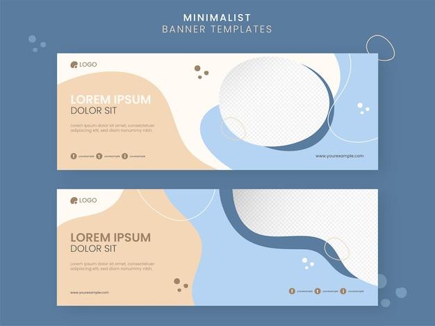 Banner minimalista abstrato ou design de modelos com espaço de cópia.