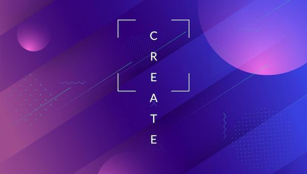 Banner mínimo. ilustração comercial. folheto hipster violeta. uma