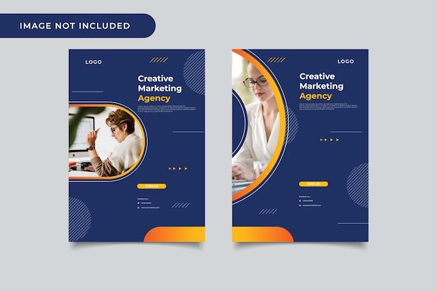 Banner modelo de agência de marketing criativo