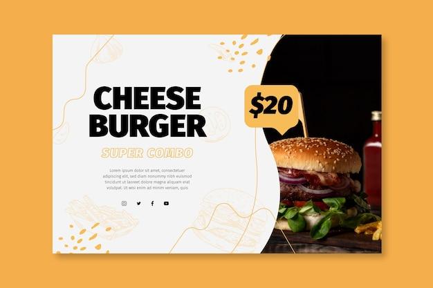 Banner modelo de comida americana
