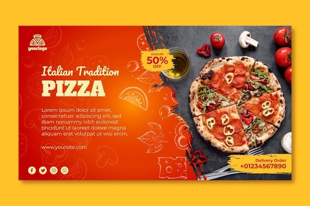 Banner modelo de comida italiana