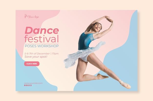 Banner modelo de festival de dança