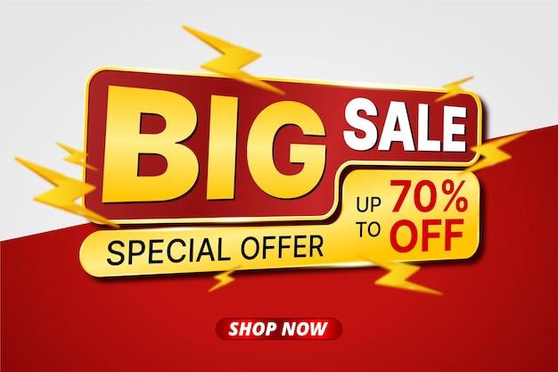 Banner modelo de grande venda com ícone de parafuso