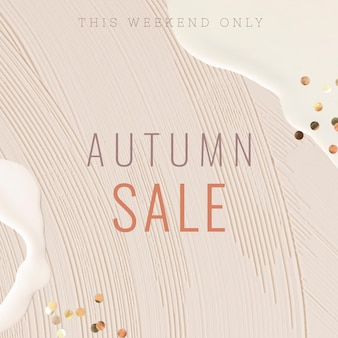 Banner modelo de venda de outono