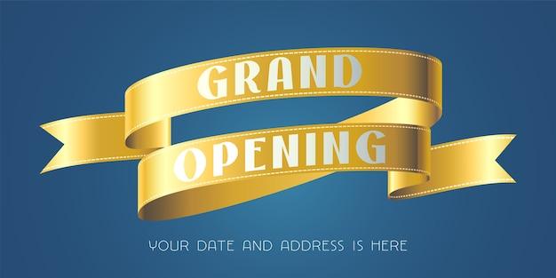 Banner modelo para evento de abertura
