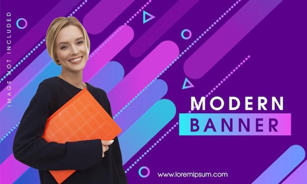 Banner moderno abstrato colorido