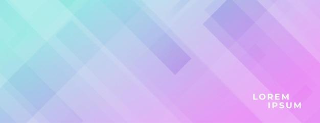 Banner moderno com efeito de linhas diagonais e cores vibrantes