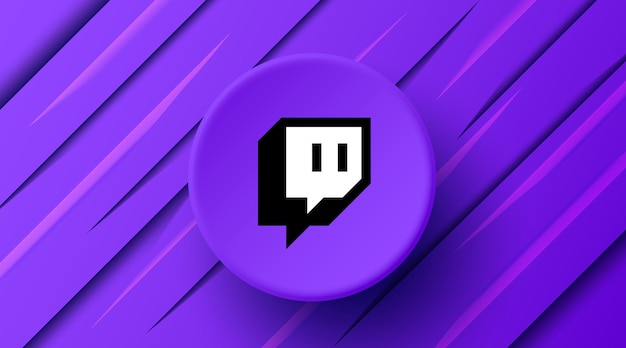 Banner moderno com logotipo twitch