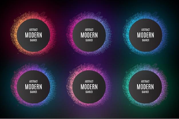 Banner moderno com partículas abstratas