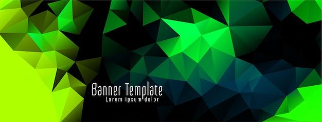 Banner moderno de desenho de polígono geométrico elegante