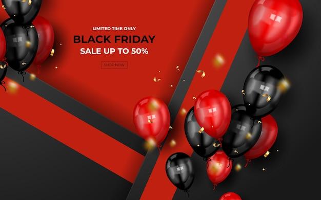 Banner moderno de super venda na sexta-feira negra