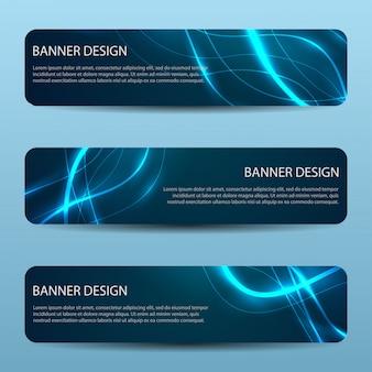 Banner moderno de vetor abstrato