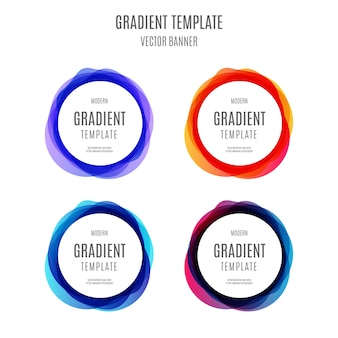 Banner moderno modelo gradiente com ondas