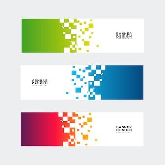 Banner moderno projeta vetor de modelo