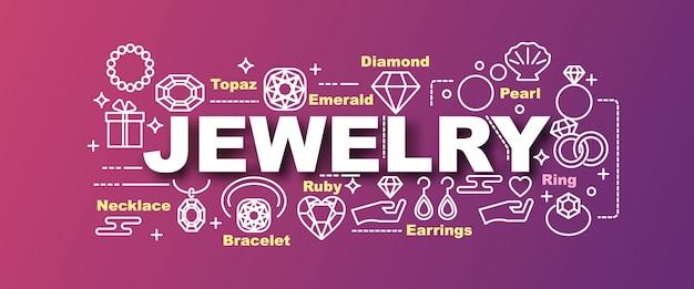 Banner na moda de vetor de jóias