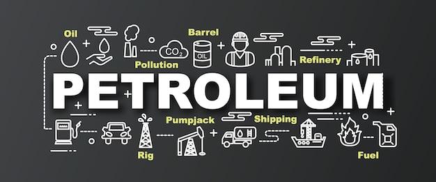 Banner na moda de vetor de petróleo