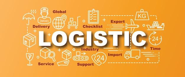 Banner na moda de vetor logístico