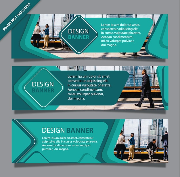 Banner office geometry green