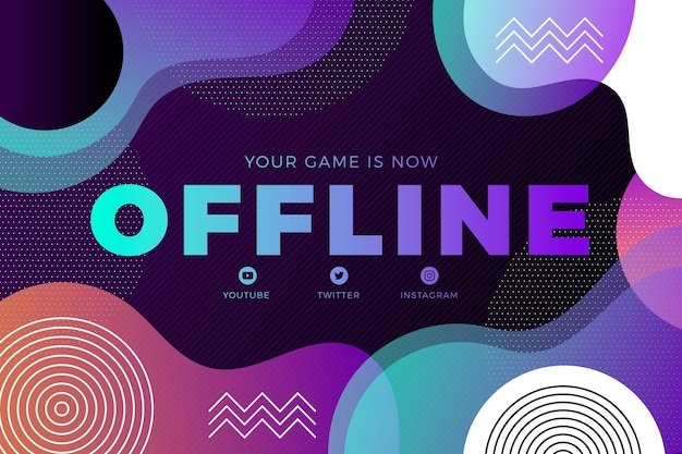 Banner offline de contração abstrata