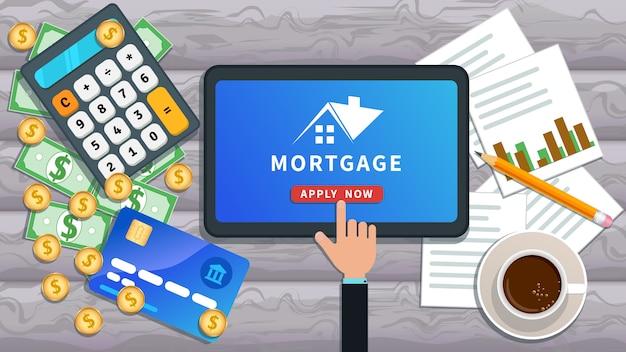 Banner on-line de empréstimo hipotecário
