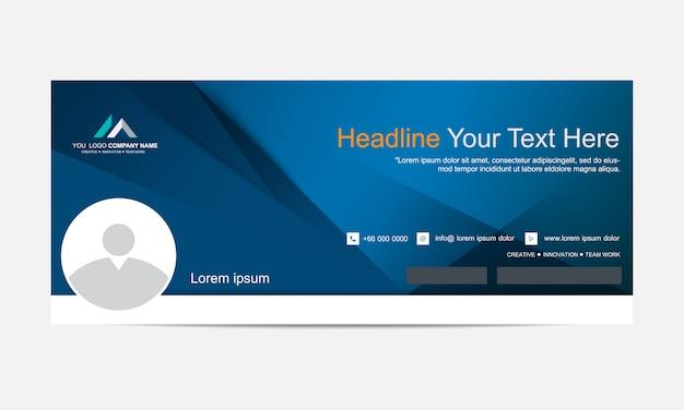 Banner ou cabeçalho da web para rede social