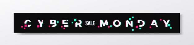 Banner ou cabeçalho elegante da cyber monday.