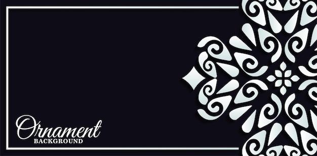 Banner ou cartão com padrão de ornamento de luxo