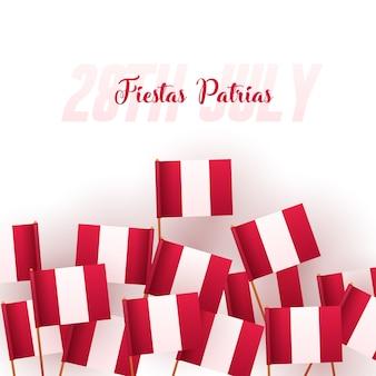 Banner ou cartaz da celebração do dia da independência do peru