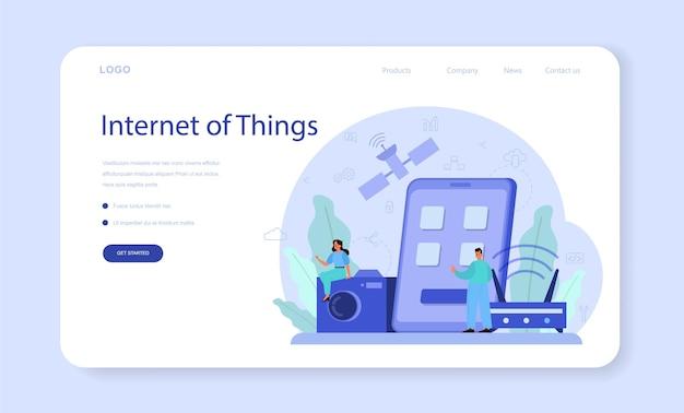 Banner ou página de destino da internet das coisas
