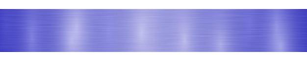 Banner ou plano de fundo horizontal abstrato de metal com reflexos em cores azuis brilhantes