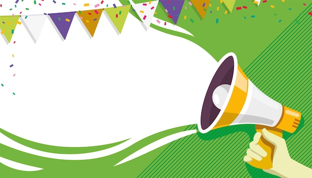 Banner ou pôster de inauguração de convite