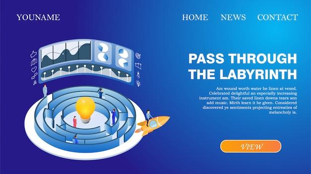 Banner página inicial da web passe pelo labirinto