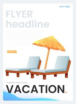 Banner para agência de viagens. o conceito de férias. ilustração dos desenhos animados.